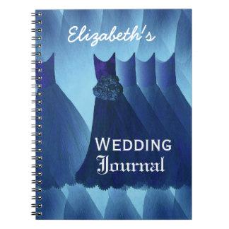 Damas de honor azules que casan el diario del plan spiral notebook