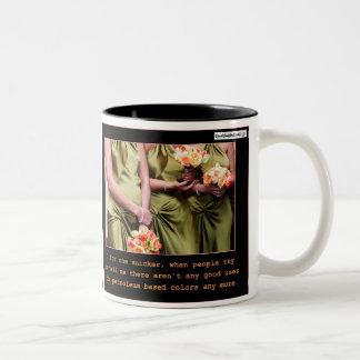 Damas de honor feas taza de café de dos colores