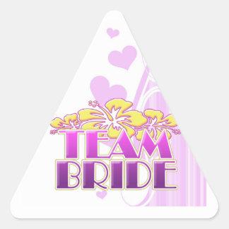 Damas de honor florales de la novia del equipo que pegatina triangular