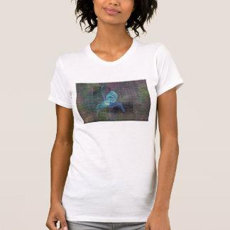 Damas T-shirt con representación abstracta de pája Camisas