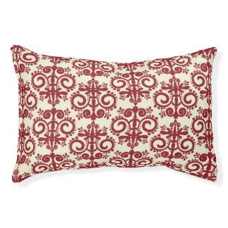 Damasco (8).jpg rojo del navidad cama para perro pequeño