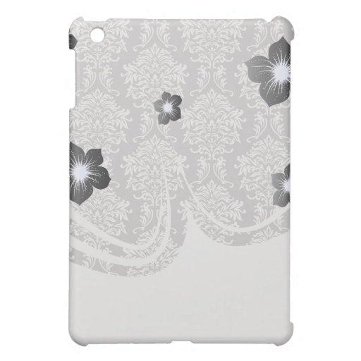 damasco adornado gris y de marfil elegante pern