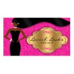 Damasco afroamericano del oro del rosa del estilis tarjeta personal