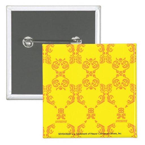 Damasco amarillo-naranja pin