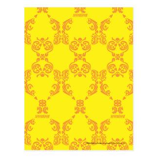 Damasco amarillo-naranja tarjetas postales