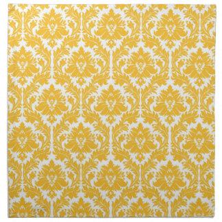 Damasco amarillo soleado servilletas imprimidas