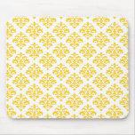 Damasco amarillo y blanco Mousepad Alfombrillas De Raton