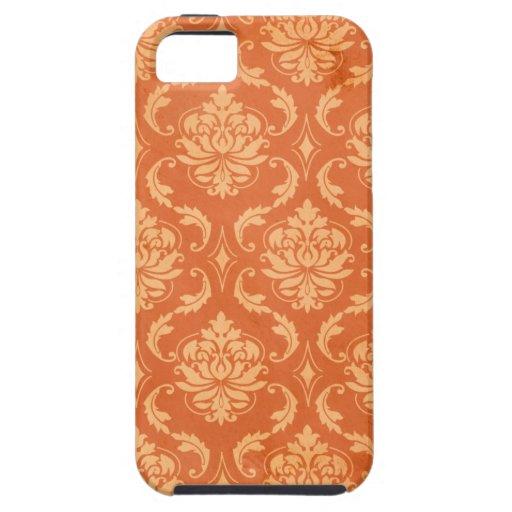 Damasco anaranjado del vintage iPhone 5 Case-Mate protectores