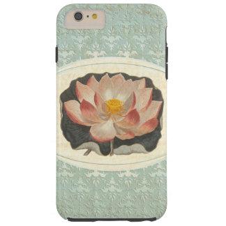 Damasco antiguo elegante del lirio de Lotus Funda Para iPhone 6 Plus Tough