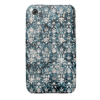 Damasco apenado del dril de algodón iPhone 3 Case-Mate carcasas