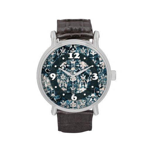 Damasco apenado del dril de algodón reloj de mano