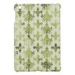 damasco apenado del verde verde oliva iPad mini coberturas