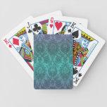 Damasco azul baraja cartas de poker