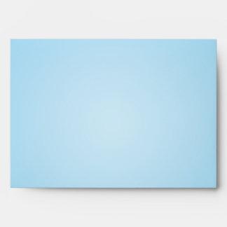 damasco azul claro de Outsid Brown del sobre 5x7 d