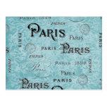 Damasco azul de París el | Postales