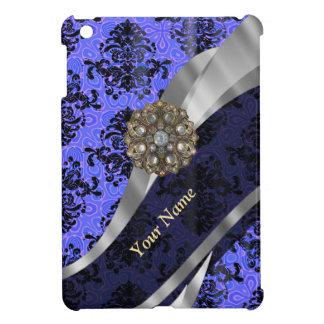 Damasco azul marino personalizado del vintage