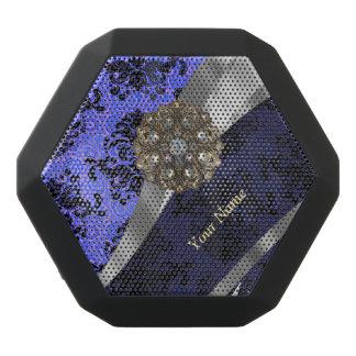 Damasco azul marino personalizado del vintage altavoces bluetooth negros boombot REX