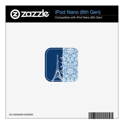 Damasco azul; París Skin Para El iPod Nano 6G