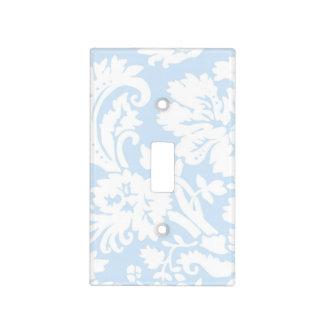 Damasco azul y blanco en colores pastel tapas para interruptores
