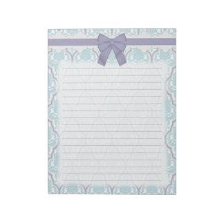Damasco azul y de la lila elegante lamentable blocs de notas