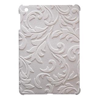 Damasco blanco de marfil iPad mini carcasa