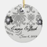 damasco blanco negro formal adornado ornamento para reyes magos
