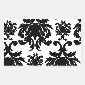 damasco blanco negro formal adornado rectangular altavoces