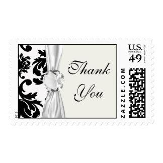 damasco blanco negro formal adornado sellos