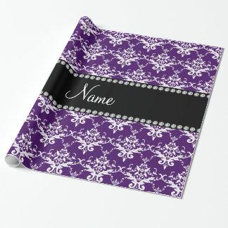 Damasco blanco púrpura conocido personalizado