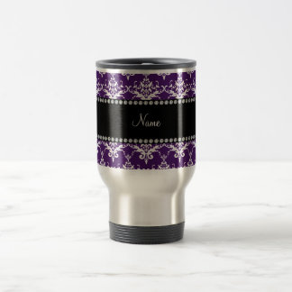 Damasco blanco púrpura conocido personalizado tazas