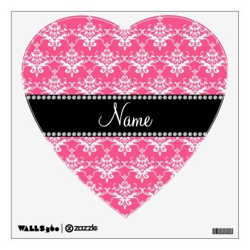 Damasco blanco rosado conocido personalizado