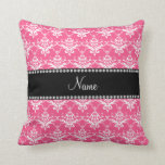 Damasco blanco rosado conocido personalizado almohadas