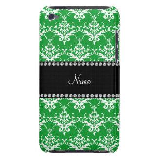 Damasco blanco verde conocido personalizado iPod touch Case-Mate cobertura
