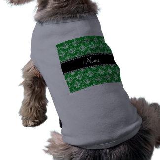 Damasco blanco verde conocido personalizado ropa de mascota