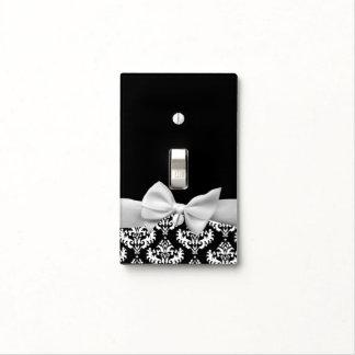 Damasco blanco y negro con el gráfico del arco de cubiertas para interruptor