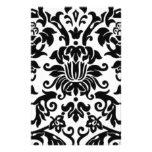 Damasco blanco y negro papeleria de diseño