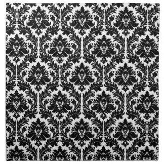 Damasco blanco y negro servilletas de papel