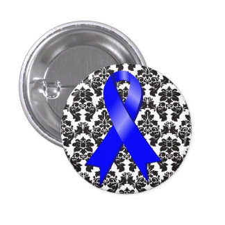 Damasco Blue Ribbon del cáncer de colon Pin