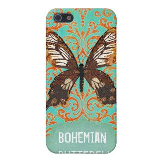 Damasco bohemio i de la mariposa iPhone 5 protector