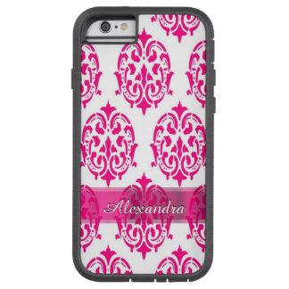Damasco bonito personalizado de las rosas fuertes funda de iPhone 6 tough xtreme