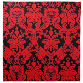Damasco brillante servilletas de papel