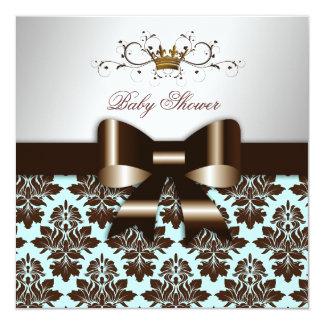 """Damasco Brown azul de 311 Blackberry Brown Invitación 5.25"""" X 5.25"""""""