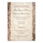 Damasco Brown de la asta de los ciervos y boda de Invitación 12,7 X 17,8 Cm