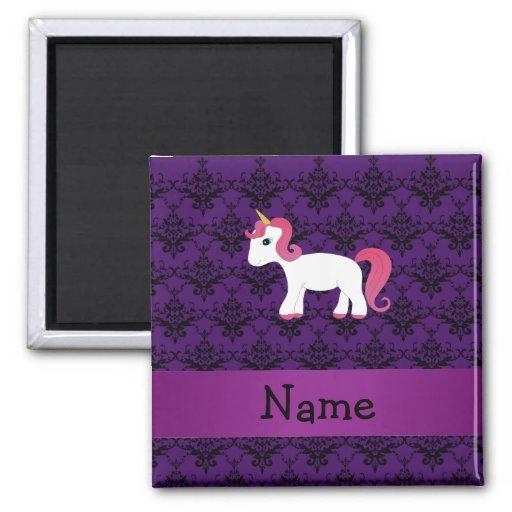 Damasco conocido personalizado de la púrpura del u iman de nevera