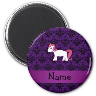 Damasco conocido personalizado de la púrpura del u imán de nevera