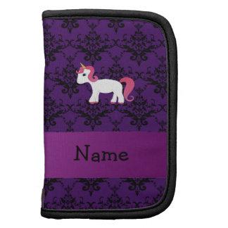Damasco conocido personalizado de la púrpura del u planificadores