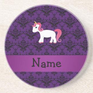 Damasco conocido personalizado de la púrpura del u posavasos cerveza