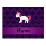 Damasco conocido personalizado de la púrpura del u postales