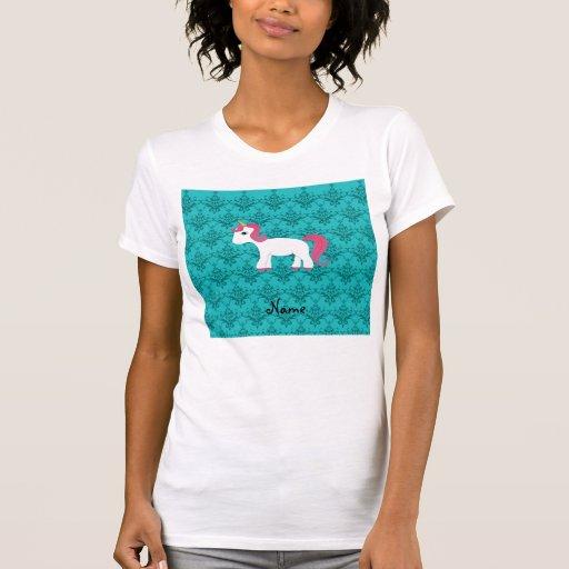 Damasco conocido personalizado de la turquesa del camisetas