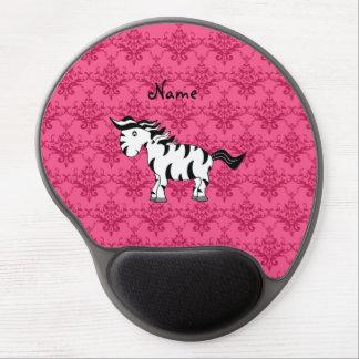 Damasco conocido personalizado del rosa de la alfombrillas de raton con gel